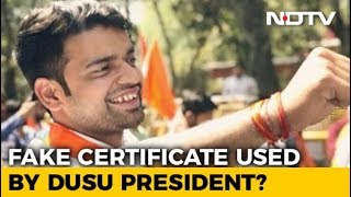 DUSU President Submitted Fake Documents To Get Admission, Claims NSUI - NDTV