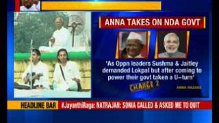 Anna Hazare to launch fresh protests against Modi govt on Lokpal issue - NEWSXLIVE