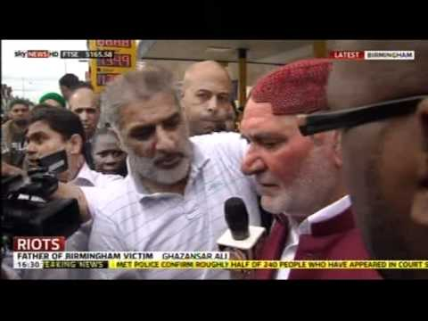 Bimingham Riot 2011 Tariq Jahan meets Ghazansar Ali Two Fathers of Murdered Victims