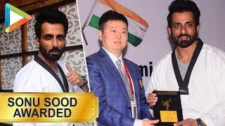 WOW: Sonu Sood is honored with a degree in Taekwondo - HUNGAMA