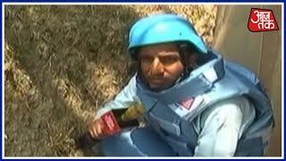 पाकिस्तान के लगातार Ceasefire Violation की गोलीबारी के बीच से AajTak की Live रिपोर्टिंग - AAJTAKTV