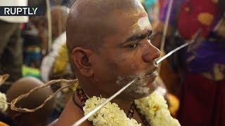 Pilgrims pierce bodies and walk over hot coals celebrating Thaipusam in India - RUSSIATODAY
