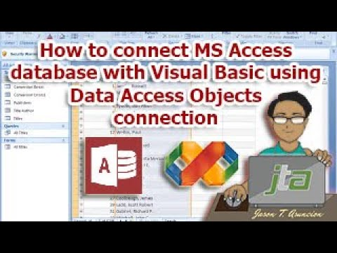 How to connect MS Access database with VB6.0 using Data Access Objects (DAO) connection. (tag-lish)