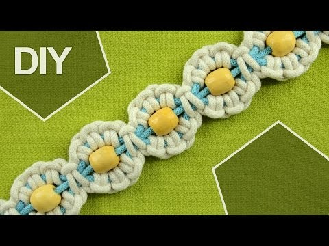 Macrame Flower motif with Pearl in center / Tutorial 1