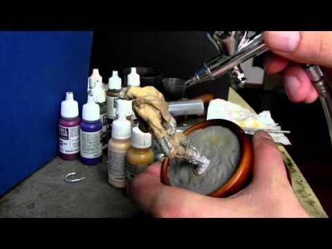 gladiador - pintura com aerógrafo II
