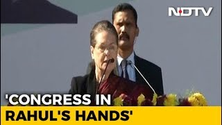 New Leadership From Today, Says Sonia Gandhi As Rahul Takes Over - NDTV