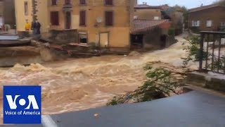 13 Dead as Flooding Hits Southwestern France - VOAVIDEO