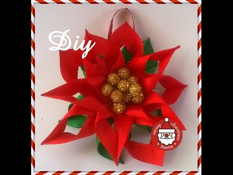 Flor de natal para decorar a árvore DIY \ Christmas flower to decorate the tree DIY