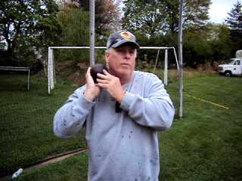 Holding the Shot put for Beginners