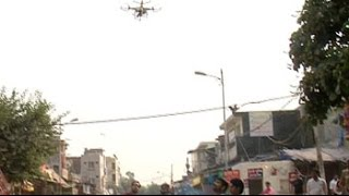 Days after clashes, police use drone cameras to keep an eye on Trilokpuri - NDTV