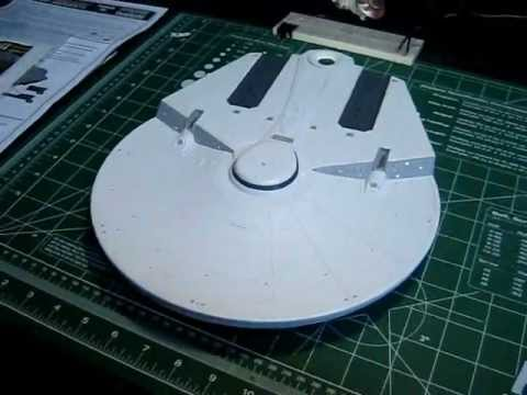 From TrekWorks Round 2 Models U.S.S. Reliant 1/537 Scale Model Build With Lights PT 4