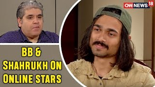 BB's Reaction To Shahrukh's Idea Of Online Stars | Excerpt from an Interview with Rajeev Masand - IBNLIVE