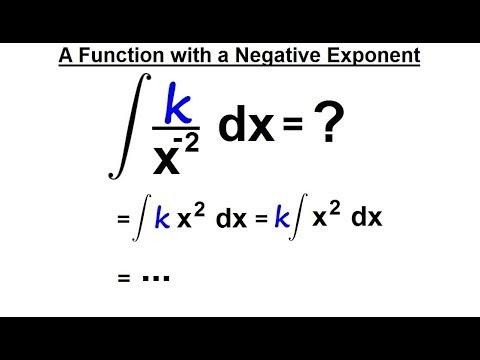Calculus 2: How Do You Integrate? (9 of 300) A Function with a Negative Exponents