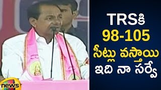 KCR Sarveys That TRS Party Is Going To Win More Than 100 Assembly Seat In The Elections |Mango News - MANGONEWS