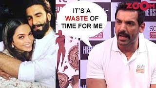 John Abraham's ANGRY reaction on Ranveer Singh & Deepika Padukone's Wedding - ZOOMDEKHO