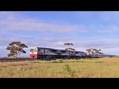 Triple SCT class locomotives with long freight train - PoathTV Railways, Railroads & Trains