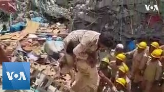 Three Rescued After 70 Hours Under Collapsed Indian Building - VOAVIDEO