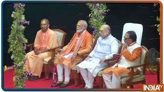 PM Modi Enters Dashashwamedh Ghat With CM Yogi And Amit Shah - INDIATV