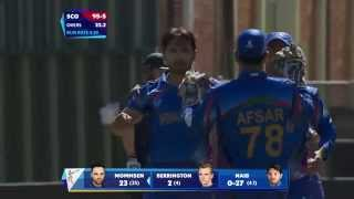 AFG v SCO: Afghans strangle Scotland's middle order. Watch ICC World Cup videos on starsports.com - ESPNSTAR