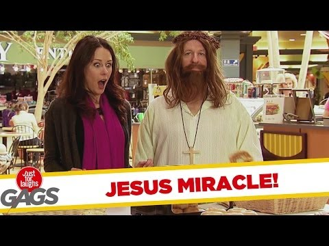 Jesus Performs a Miracle with Multiplies Bagels Prank