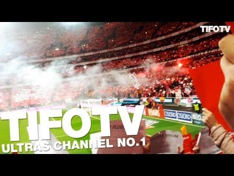 NN BOYS. .. CHOREO DURING A MATCH AGAINST PORTO - Ultras Channel No.1