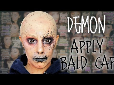 Demon makeup and how to apply bald cap | Silvia Quiros