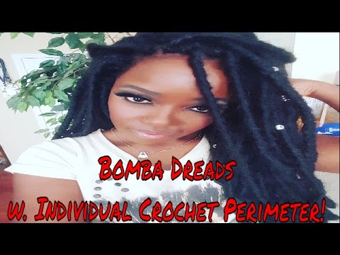 HOW TO: RE-USE BOMBA DREADS w/ INDIVIDUAL CROCHET PERIMETER