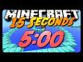 "Minecraft Parkour Speedrun | ""15 Seconds"" | 5:00.73 | Nearly Perfect Run"