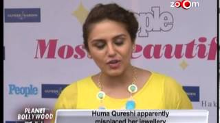 Huma Qureshi apparently misplaced her jewellery