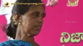 Women Alleges A Group of Women Burnt Her Bathukamma Saree | Jagtial | Mango News - MANGONEWS
