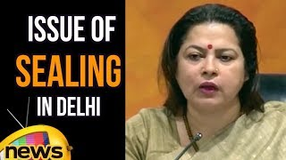 Meenakshi Lekhi Speech On The Issue Of Sealing In Delhi | Mango News - MANGONEWS