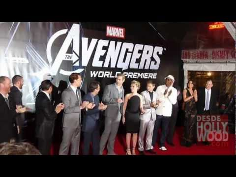 The Avengers Premiere: Cast Presentation - Hollywood (Los Vengadores)