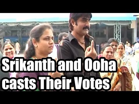 Srikanth and Ooha Cast thier Votes - 2014 Elections