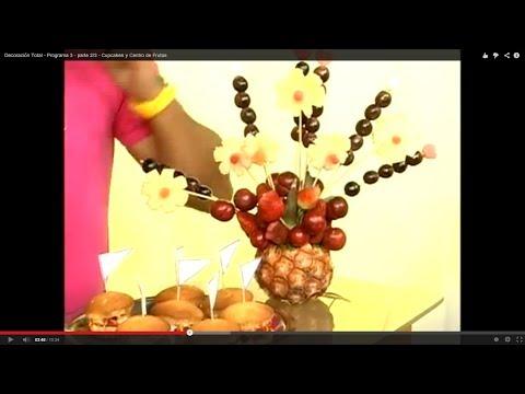 Centro de mesa de frutas - Programa 3 - parte 3/3