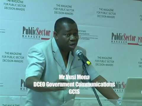 GCIS DCEO Vusi Mona speaks during public sector manager forum