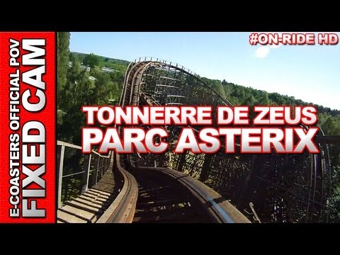 Tonnerre de Zeus - OnRide - Parc Asterix (ECAM HD)