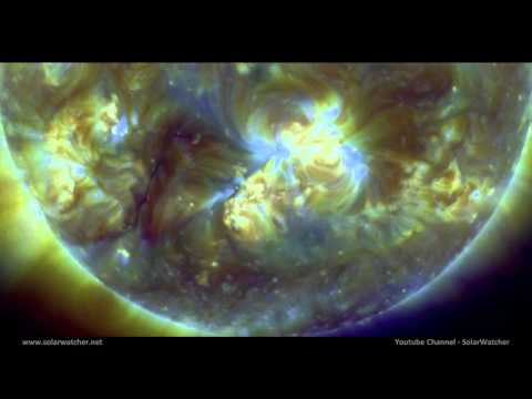 Huge Filament Eruption & M1.1 Flare / Solar Watch Nov 10, 2011