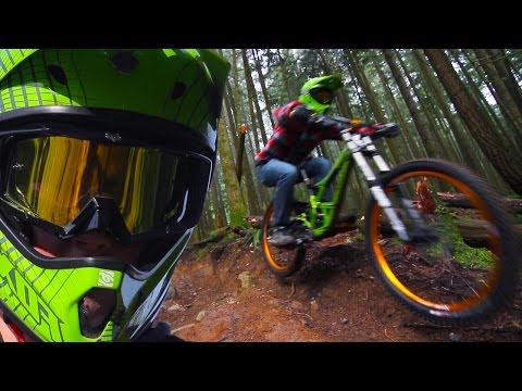 Downhill Freeride Forest -- Winter Shredding