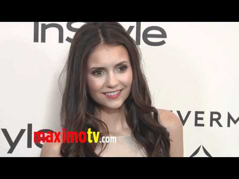 Nina Dobrev Forevermark And InStyle Golden Globes 2012 Event EXCLUSIVE