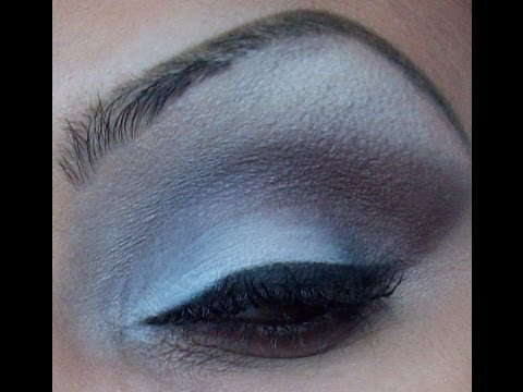 White and Dark Smokey Eyes / Esfumado Branco + Preto - MAKE UP TUTORIAL