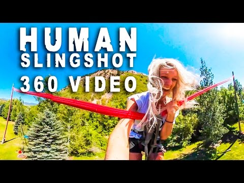 Human Slingshot in 360! INSANE | DEVINSUPERTRAMP