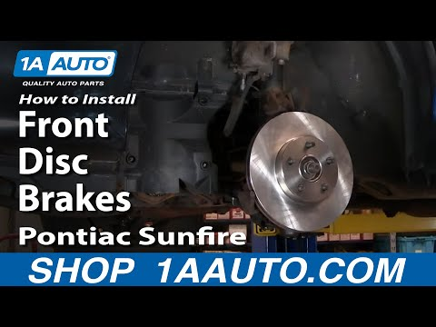 How To Install Replace Front Disc Brakes Cavalier Sunfire 92-05 1AAuto.com