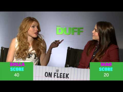 The DUFF Stars Bella Thorne and Mae Whitman Play the Slang Game