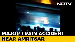 Horrific Moment When Dozens Crushed By Punjab Train Caught In Videos - NDTV