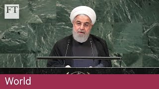 Iranian president slams the US for its hostile stance towards his country - FINANCIALTIMESVIDEOS