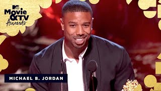 Michael B. Jordan Accepts the Award for Best Villain | 2018 MTV Movie & TV Awards - MTV