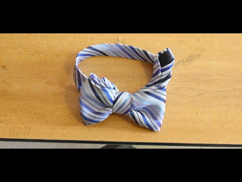 Como hacer un moño con la corbata