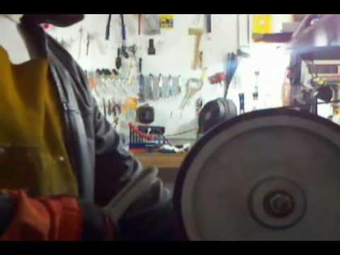 DIY Homemade belt grinder how to Hollow Grind a Knife