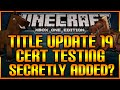 Minecraft: (Xbox360/PS3) NEW! TITLE UPDATE 19 FINISHED!?! SECRET CERT TESTING & MORE! [TU19]