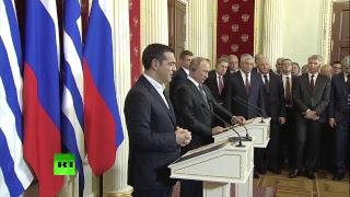 Putin & Greek PM Tsipras address media in Moscow - RUSSIATODAY